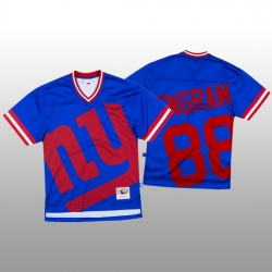 NFL New York Giants 88 Evan Engram Blue Men Mitchell  26 Nell Big Face Fashion Limited NFL Jersey