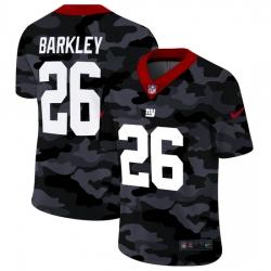 New York Giants 26 Saquon Barkley Men Nike 2020 Black CAMO Vapor Untouchable Limited Stitched NFL Jersey