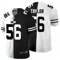 New York Giants 56 Lawrence Taylor Men Black V White Peace Split Nike Vapor Untouchable Limited NFL Jersey