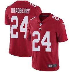 Nike Giants 24 James Bradberry Red Alternate Men Stitched NFL Vapor Untouchable Limited Jersey
