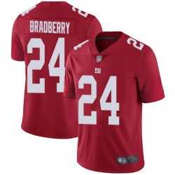 Nike Giants 24 James Bradberry Red Men Stitched NFL Limited Inverted Legend Jersey