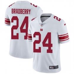 Nike Giants 24 James Bradberry White Men Stitched NFL Vapor Untouchable Limited Jersey
