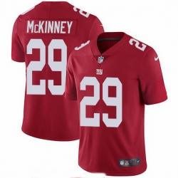 Nike Giants 29 Xavier McKinney Red Alternate Men Stitched NFL Vapor Untouchable Limited Jersey