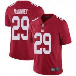 Nike Giants 29 Xavier McKinney Red Men Stitched NFL Limited Inverted Legend Jersey