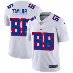 Nike Giants 56 Lawrence Taylor White Shadow Logo Limited Jersey