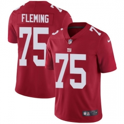 Nike Giants 75 Cameron Fleming Red Alternate Men Stitched NFL Vapor Untouchable Limited Jersey