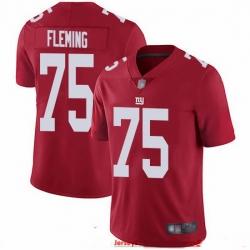 Nike Giants 75 Cameron Fleming Red Men Stitched NFL Limited Inverted Legend Jersey