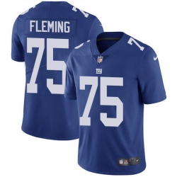 Nike Giants 75 Cameron Fleming Royal Blue Team Color Men Stitched NFL Vapor Untouchable Limited Jersey