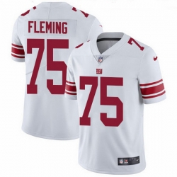 Nike Giants 75 Cameron Fleming White Men Stitched NFL Vapor Untouchable Limited Jersey