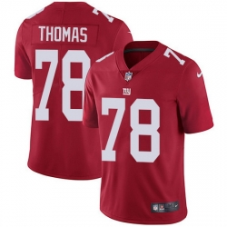 Nike Giants 78 Andrew Thomas Red Alternate Men Stitched NFL Vapor Untouchable Limited Jersey
