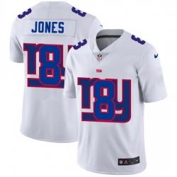 Nike Giants 8 Daniel Jones White Shadow Logo Limited Jersey