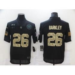Nike New York Giants 26 Saquon Barkley Black Camo 2020 Salute To Service Limited Jersey