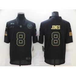 Nike New York Giants 8 Daniel Jones Black 2020 Salute To Service Limited Jersey