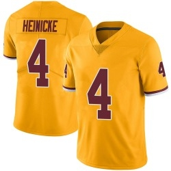 Men Washington 4  Taylor Heinicke Limited Color Rush Jersey   Gold