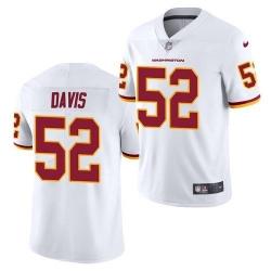 Men Washington Football Team 52 Jamin Davis White 2021 Vapor Untouchable Nike Limited Jersey