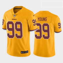 Men Washington Redskins 99 Chase Young Color Rush Limited Jersey Gold