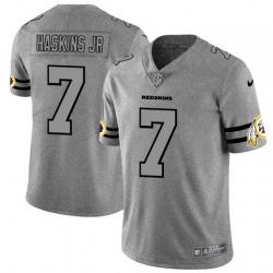 Nike Redskins 7 Dwayne Haskins Jr 2019 Gray Gridiron Gray Vapor Untouchable Limited Jersey