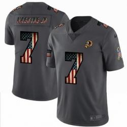 Nike Redskins 7 Dwayne Haskins Jr 2019 Salute To Service USA Flag Fashion Limited Jersey