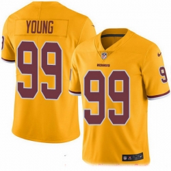Nike Redskins 99 Chase Young Gold Men Stitched NFL Limited Rush Jersey