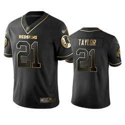 Redskins 21 Sean Taylor Black Men Stitched Football Limited Golden Edition Jersey