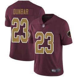 Redskins 23 Quinton Dunbar Burgundy Red Alternate Men Stitched Football Vapor Untouchable Limited Jersey