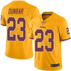 Redskins 23 Quinton Dunbar Gold Men Stitched Football Limited Rush Jersey