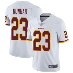 Redskins 23 Quinton Dunbar White Men Stitched Football Vapor Untouchable Limited Jersey