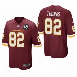 Washington Redskins 82 Logan Thomas Men Nike Burgundy Bobby Mitchell Uniform Patch NFL Game Jersey