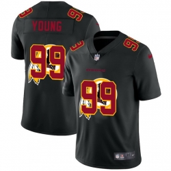 Washington Redskins 99 Chase Young Men Nike Team Logo Dual Overlap Limited NFL Jersey Black