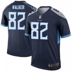Men Tennessee Titans 82 Delanie Walker Legend Navy Limited Jersey