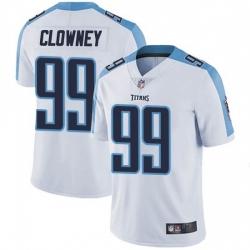 Men Tennessee Titans 99 Jadeveon Clowney White Vapor Limited Jersey