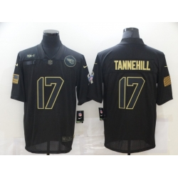 Nike Tennessee Titans 17 Ryan Tannehill Black 2020 Salute To Service Limited Jersey