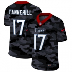 Tennessee Titans 17 Ryan Tannehill Men Nike 2020 Black CAMO Vapor Untouchable Limited Stitched NFL Jersey