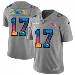 Tennessee Titans 17 Ryan Tannehill Men Nike Multi Color 2020 NFL Crucial Catch NFL Jersey Greyheather