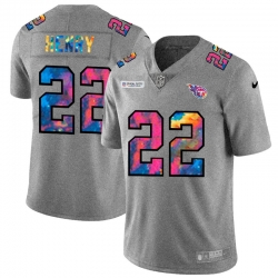 Tennessee Titans 22 Derrick Henry Men Nike Multi Color 2020 NFL Crucial Catch NFL Jersey Greyheather
