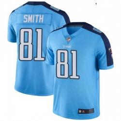 Youth Tennessee Titans 81 Jonnu Smith Light Blue Vapor Limited Jersey