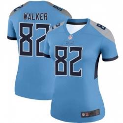 Women Tennessee Titans 82 Delanie Walker Legend Light Blue Limited Jersey