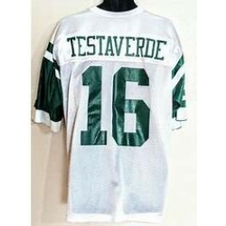 Men Jets 16 Testaverde White Jersey