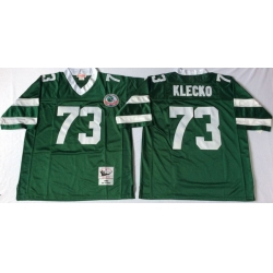 Men New York Jets 73 Joe Klecko Green M&N Throwback Jersey