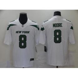 Men New York Jets 8 Elijah Moore Nike Gotham White 2021 Vapor Untouchable Jersey