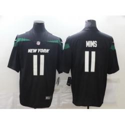 Men Nike New York Jets 11 Denzel Mims Black Vapor Untouchable Limited Jersey