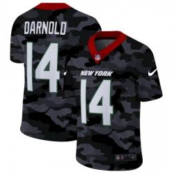 New York Jets 14 Sam Darnold Men Nike 2020 Black CAMO Vapor Untouchable Limited Stitched NFL Jersey