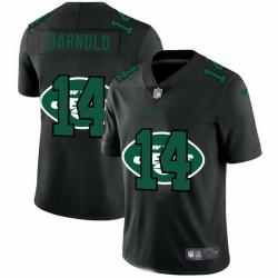 New York Jets 14 Sam Darnold Men Nike Team Logo Dual Overlap Limited NFL Jersey Black