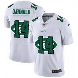New York Jets 14 Sam Darnold White Men Nike Team Logo Dual Overlap Limited NFL Jersey