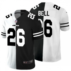 New York Jets 26 Le 27Veon Bell Men Black V White Peace Split Nike Vapor Untouchable Limited NFL Jersey