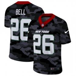 New York Jets 26 Le 27Veon Bell Men Nike 2020 Black CAMO Vapor Untouchable Limited Stitched NFL Jersey