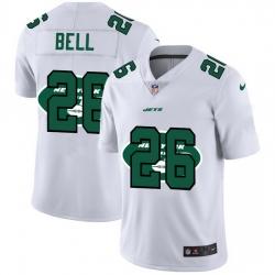 New York Jets 26 Le 27Veon Bell White Men Nike Team Logo Dual Overlap Limited NFL Jersey