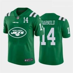 Nike Jets 14 Sam Darnold Green Team Big Logo Number Vapor Untouchable Limited Jersey