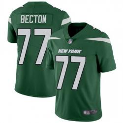 Nike Jets 77 Mekhi Becton Green Team Color Men Stitched NFL Vapor Untouchable Limited Jersey
