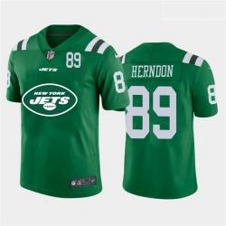 Nike Jets 89 Chris Herndon Green Team Big Logo Number Vapor Untouchable Limited Jersey